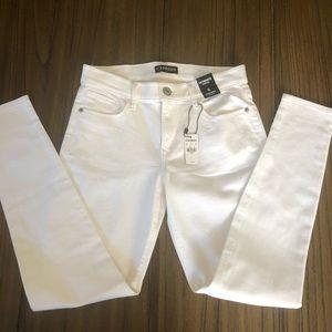 Express white legging skinny jeans mid rise